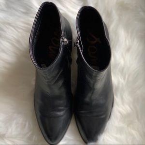 Sam Edelman Shoes - Sam Edelman • Black Leather Bootie • Size 9.5